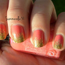 Coral and Gold Glitter Gradient