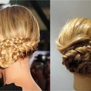 Charleze Theron Braided Upstyle