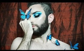 James Charles Blue Butterfly Inspired Makeup
