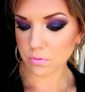 Purple look with glitter!