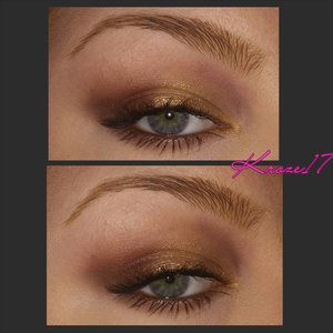 Here's is a close up of the eye look I did using the Tarte Rain Forest After Dark Palette.  It's very Fall and very beautiful! I'm really into the sleepy,  untested look. This palette is perfect for it and so travel friendly. What is your favorite travel palette?  #Makeup #Cosmetics #beautyproducts #Beautyshot #beauty #makeuplook #tarte #rainforestafterdark #New #fall #fullface #glasses #instamakeup #instabeauty #kroze17