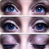 Smokey plum eyes with natural long eyelashes
