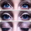 Smokey plum eyes with natural long eyelashes