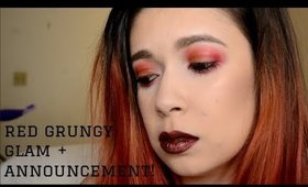 Red Grungy Glam + Announcement! | Alexis Danielle