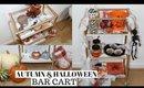 DIY Halloween and Autumn Bar Cart Styling Ideas and Decor