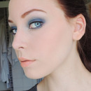 Frosty Blue Smoky Eye