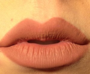 """Using MAKE UP FOREVER Aqua Lip in """"3C"""" to dramatically overdraw the lips  Very matte and long lasting"""
