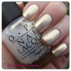 An iridescent white/gold polish