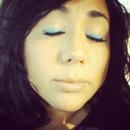 blue eyeliner!