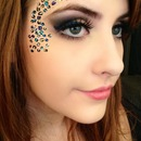 Cheetah makeup.