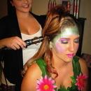 Doing hair&makeup for halloween
