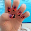 My holiday sunset nails
