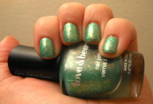 "Sinful Colors Mint candy Apple and Love and Beauty ""Light Green"" on top"
