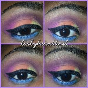 look I created using my bh cosmetics and coastal scents palettes.