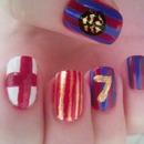 my FCB nails