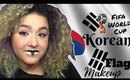 Korea Republic Inspired Makeup Tutorial -FIFA World Cup- (NoBlandMakeup)