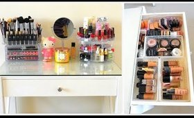 My Makeup Table Cute Organization | Makeup Collection and Organization in Tamil