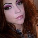 Hot pink cut crease