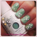 Gelish  in Seafoam & O.P.I Gelcolor in Lights of Emerald City