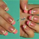 Girly pink french & Polka dots
