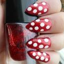 Red Glitter & White Polka Dots