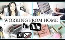 Working From Home Routine | SAHM and YouTuber