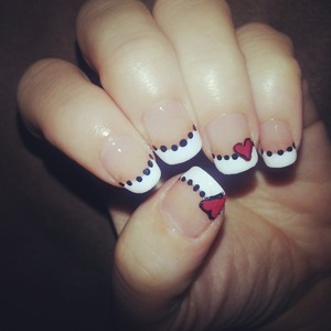 simple yet cute.  for more designs, you can view my page www.facebook.com/hairmakeupandnailsbyashley