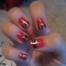 Santa-belt nails