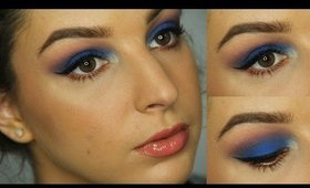 Royal Blue and Copper Makeup Tutorial ♥