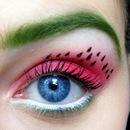 Watermelon Eye Makeup :)