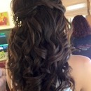 Half-down w/extensions...by Calista Brides Hair & Makeup Artistry
