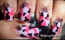 Pink Camouflage ♥ Spikes Fashion Nail Art / Diseño de uñas camuflaje