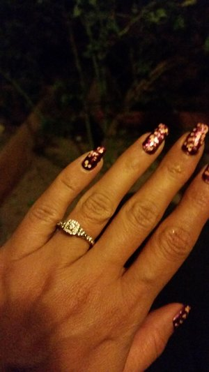 China glaze looks good with my new bling
