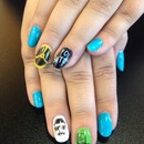 Breaking bad blue yellow black green nails