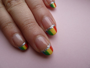 Rainbow nails. Day #9 of the 31 Day Nail Challenge. For more pictures go to; http://nailsbystephanie.blogspot.com/2012/03/day-9-rainbow.html