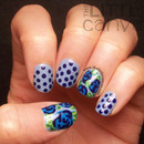 Blue Roses and Dots