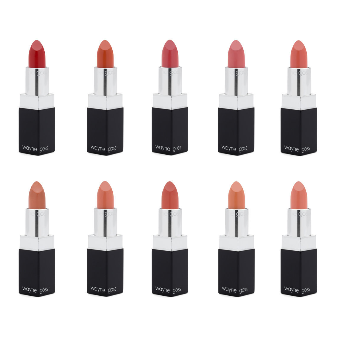 Wayne Goss The Luxury Cream Lipstick Collection product swatch.
