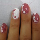 Marble *NO WATER* Heart Shape Nail Design