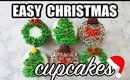 Simple Christmas Cupcakes: Tree, Ornament, Crown