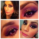 Bronze and purpel look