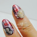Checkered Nail Art