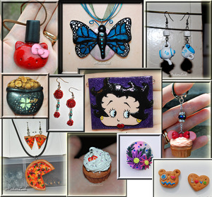 you cant get all dolled up and not accessorize ..i have recently started making unique items to accessorize :)  none of these are for sale yet.i want to have a nice sized stock pile made before i open shop..but i just wanted to show you some of the items ive made ..hope you like