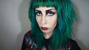 Makeup from my Siouxsie Sioux youtube makeup tutorial