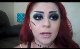 Frankenstein's Bride Halloween Makeup Tutorial
