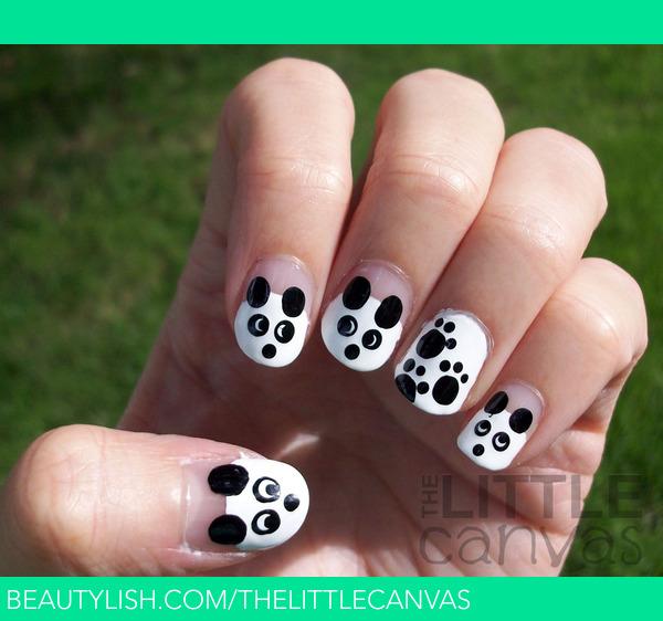 Panda Nail Art: The Little Canvas A.'s (thelittlecanvas