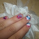 4Th Of July Water Marbled Nails!
