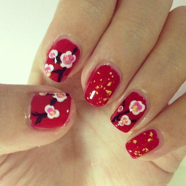 Simple Nail Art For Chinese New Year: Luxi Z.'s (luxiz) Photo
