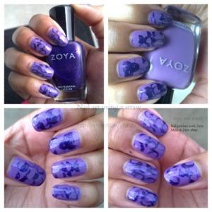 The nail polish I used were: Zoya Malia and Zoya Mimi.