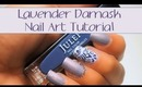 Lavender Damask Nail Art Tutorial