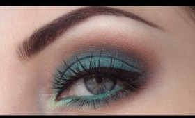 Green and brown smokey eyes tutorial
